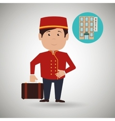 Hotel employees design vector