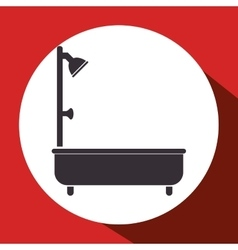Bathtub bathroom isolated icon vector