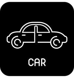 car - icon vector image vector image