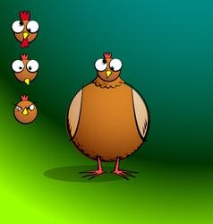 chickensRround ConfusedChicken vector image