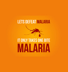 Collection malaria day background vector