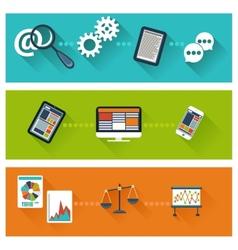 Concept for business development web analytics vector