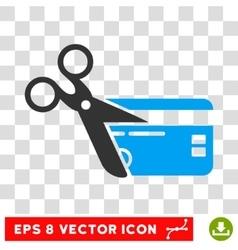 Cut credit card eps icon vector