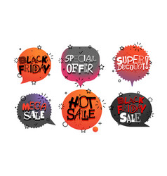 Different tags collection sale banners set vector