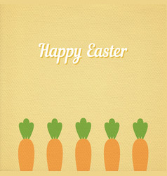 easter carrots bed vector image vector image