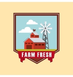 farm fresh emblem icons vector image vector image