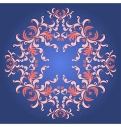 Filigree damask background with vintage ornament vector