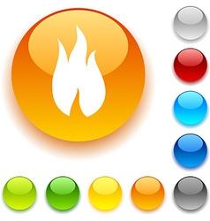Fire button vector image