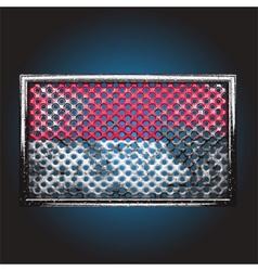Flag on old metal vector