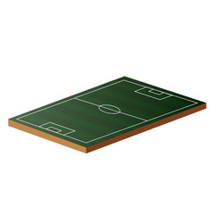 football field in 3d vector image