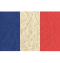 France paper flag vector image vector image