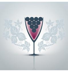 Glassofwine vector image