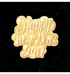 Happy New Year 2017 text on party flyer template vector image vector image