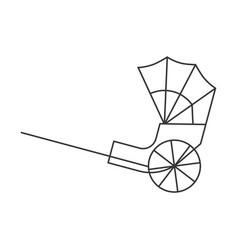 Hong kong rickshaw icon outline design vector
