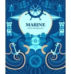 Marine background vector image