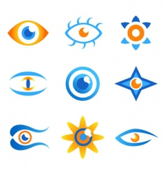 set of eye symbols vector image vector image