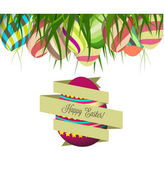spring easter background with egg vector image vector image