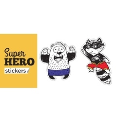 Super Hero stickers vector image vector image