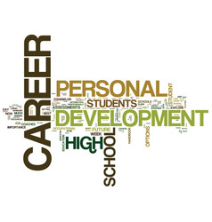 The importance of personal career development for vector