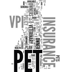 your pets a vip with vpi text word cloud concept vector image vector image