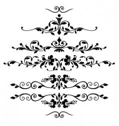 Set of floral ornaments vector