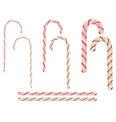 Candy canes set3 vector