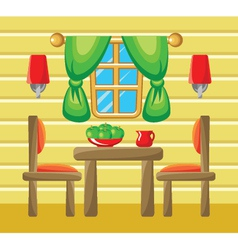Dining room interior vector