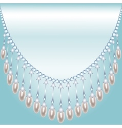Backrground with pearls vector