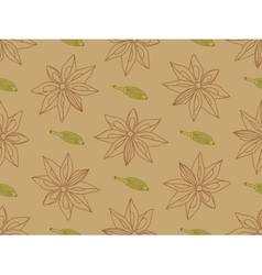 Anise with cardamom seamless pattern vector