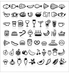 Food icons black 2014 vector