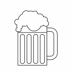 Beer mug icon outline style vector