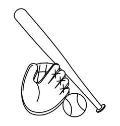 baseball equipment isolated icon vector image
