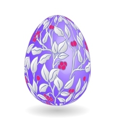 Colorful easter lilac egg with ornate doodle vector
