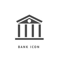 Digital black business bank vector