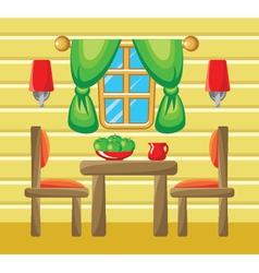 Dining room interior vector