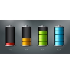 Discharged and fully charged battery smartphone - vector image