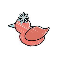 Dove flower love symbol image vector