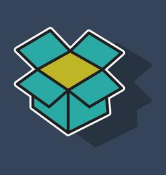 dropbox color icon realistic icon or logo sticker vector image