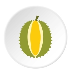 Durian fruit icon flat style vector image