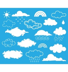 Elements of weather set vector