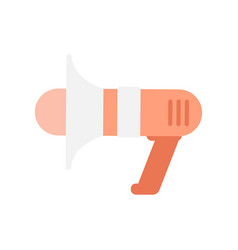 Flat icon of megaphone vector