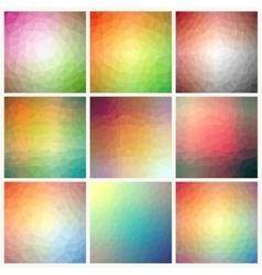Flow of spectrum effect Polygonal background vector image