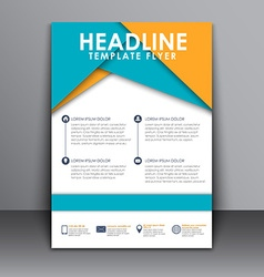 Flyer in the style of the material design vector image