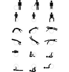 Gymnastics pictograms vector