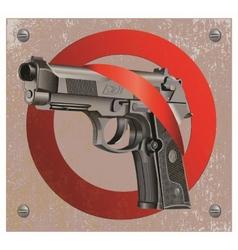 Handgun beretta elite stop vector