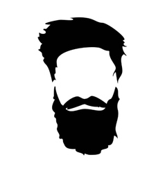 Hipster detailed hair and beards set fashion vector