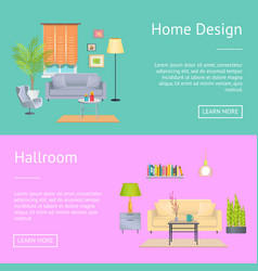 home design and hallroom on vector image