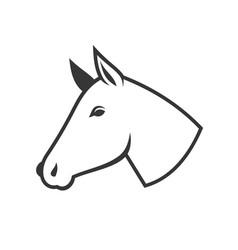 Horse head icon logo vector