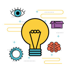 idea bulb innovation creativity solution image vector image
