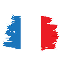 isolated french flag vector image